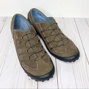 CLARKS Privo Brown Leather Slip On Casual Shoes 11